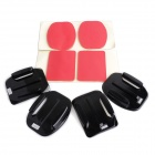 ESER-014 Flat Camber Surface Super Glue for Gopro 3 / 3+ - Black + Red (4 PCS)