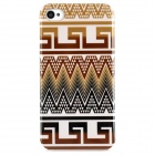 Tribal Ethnic Style Protective Plastic Back Case for Iphone 4 / 4S - Brown