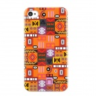 Stylish Tribal Ethnic Style Protective Plastic Back Case for Iphone 4 / 4S - Orange