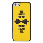 Bow Tie Pattern Protective Plastic Back Case for Iphone 5 - Yellow + Black