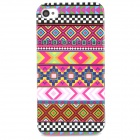 Stylish Tribal Ethnic Style Protective Plastic Back Case for Iphone 4 / 4S - Deep Pink