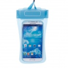 Stylish Protective PVC Waterproof Bag w/ Lanyard / Elastic Arm Band for Cell Phone - Blue