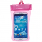Stylish Protective PVC Waterproof Bag w/ Lanyard / Elastic Arm Band for Cell Phone - Pink
