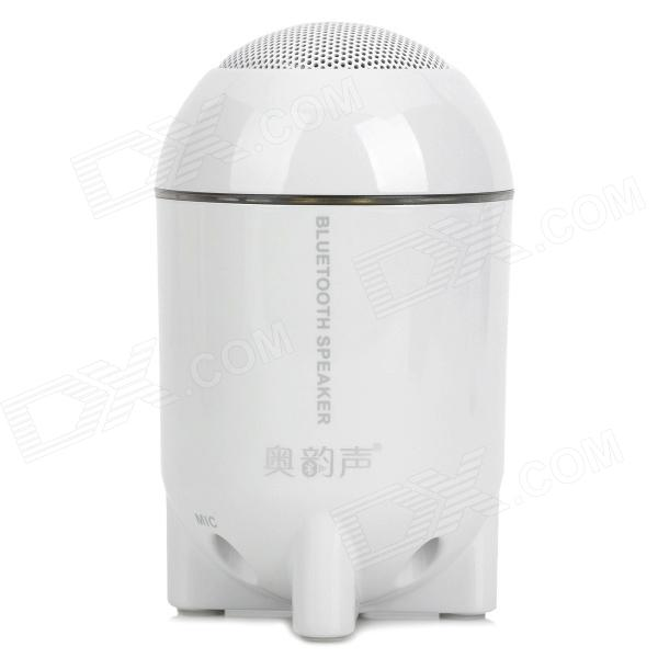 AoYunSheng BT-101 Rocket Head Style Bluetooth v2.1 Speaker w/ Microphone - White