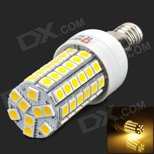 купить LeXing LX-YMD-002 E14 460lm 3500K 69-SMD 5050 LED Warm White Light Bulb - White + Yellow недорого