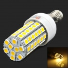 LeXing LX-YMD-002 E14 460lm 3500K 69-SMD 5050 LED Warm White Light Bulb - White + Yellow