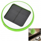 Window Mounted Solar Powered Rechargeable 1800mAh Li-ion Power Bank for Cell Phone - Green