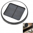Window Mounted Solar Powered Rechargeable 1800mAh Li-ion Power Bank for Cell Phone - Black