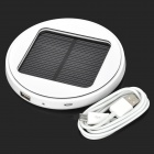 Window Mounted Solar Powered Rechargeable 1800mAh Li-ion Power Bank for Cell Phone - White