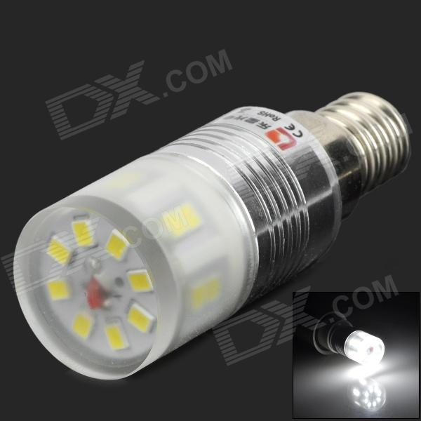 LeXing LX-YMD-024 E14 2.5W 260lm 7500K 20-SMD 2835 Cool White Light Bulb - White + Silver