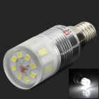 LeXing LX-YMD-024 E14 2.5W 260lm 7500K 20-SMD 2835 LED White Light Bulb - White + Silver