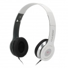 OVLANG X1 Headphone w/ Microphone / Volume Control - White + Black (3.5mm)