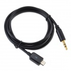 CMI GT-074 Car AUX Audio Output Cable for Samsung Mobile Phone i9300 / i9220 / i9100 - Black (100cm)