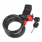 CoolChange 29005 Steel Cable Security Bicycle Lock Set - Black + Red