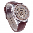 ORKINA KC023 Double-Sided Hollow Mechanical Automatic Men's Wrist Watch - Coppery + Silver + Brown