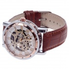 ORKINA KC023 Hollow Mechanical Men's Wrist Watch - Brown