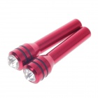 YONG XUN YX-511 Shinny Crystal Decorative Car Interior Door Lock Cover Knobs - Red (2 PCS)