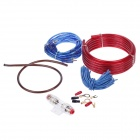 YIYELANG YH-168 2000W Car Amplifier Audio Installation Wires Cables Kit - Red + Blue