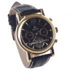 ORKINA MG019 Double-Sided Hollow Style Automatic Mechanical Men's Wrist Watch - Black + Golden