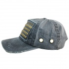 Fashionable Leisure Rivet Cap - Deep Grey