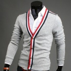 Fashionable Personality Cardigan for Men - Grey (Size-L)
