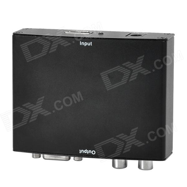 P/N1009 HDMI to R/L Audio + VGA 1080P Converter Box - Black n j patil r h chile and l m waghmare design of adaptive fuzzy controllers