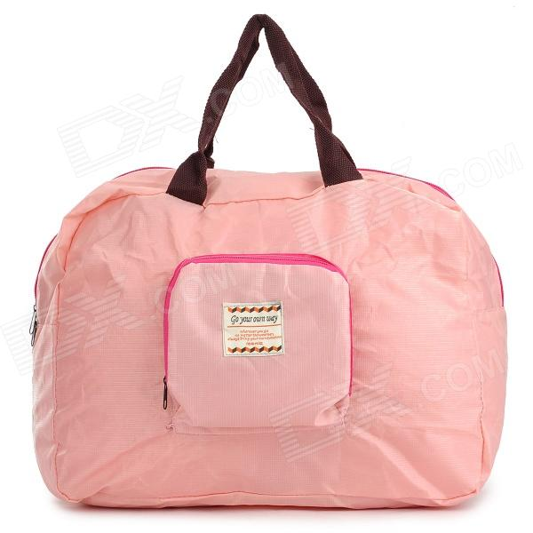 Folding Polyester Shoulder Bag / Handbag for Women - Pink