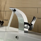 YDL-F-0508 Bathroom Brass Faucet Single Lever Mono Basin Mixer Tap - Silver