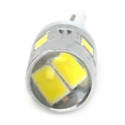 SENCART T10 1W 80lm 6200K 6-SMD 5730 LED Branco Car Signal Light (12 ~ 14V / 2 PCS)