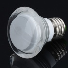 Small Mushroom Style E27 3W LED RGB Light Bulb w/ 24-Key Remote Controller - Silver (85~265V)