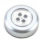 0.25W 30lm 4-LED Touch Light / Night Lamp / Ambry Light / Drawer Lamp / Emergency Light - (3 x AAA)