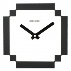 GeeKCook GK1310015 Concise 8Bit Pixel Style Wall Clock - White + Black (1 x AA)