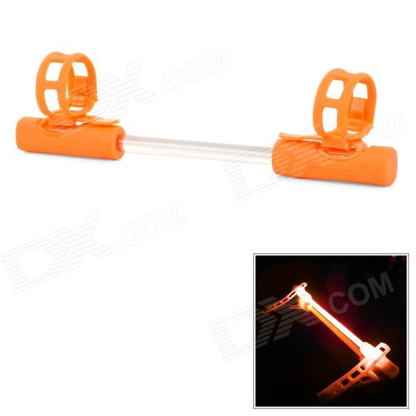 3-Mode orange Licht Bike Rohr Alarmierende Dekoration Licht - Orange + Transparent