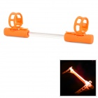 3-Mode Orange Light Bike Tube Alarming Decoration Light - Orange + Transparent