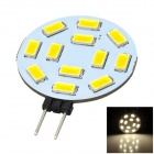 SENCART G4 4.5W 320lm 3000K 12-SMD 5730 LED Warm White Car Reading Light (12~24V)