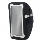 KEXUN NIPB2-01-R8 Sporty Protective TPU Arm Bag w/ Band for Cellphone + More - Black + Gray