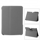 Stylish Flip-open PU + Plastic Case w/ Auto Sleep + Holder for Samsung Galaxy Tab 3 P5200 - Gray