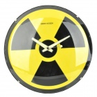 GeeKCook GK1310012 Radiation Warning Nuclear Symbol Pattern Wall Clock - Yellow + Black (1 x AA)