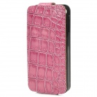 iFans Alligator Pattern 1450mAh Backup Battery Cover Case for iPhone 4 / 4S - Light Purple + Black