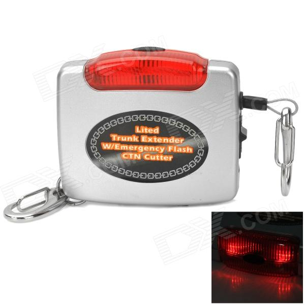 F556 Mini Car Trunk Over-Load Over-Cover Alarm Device - White + Black + Red (2 x AAA) new safurance 200w 12v loud speaker car horn siren warning alarm stainless steel home security safety