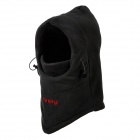Hasky Outdoor Sports Polar Fleece Hood Neck Warmer Windproof Hat - Black