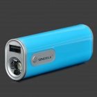 Sinoele B2600 2600mAh Mobile Power Bank w/ 2-Mode LED Flashlight - Blue