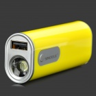 Sinoele B2600 2600mAh Mobile Power Bank-w / 2-Mode-LED-Taschenlampe - Gelb