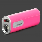 Sinoele B2600 2600mAh Mobile Power Bank-w / 2-Mode-LED-Taschenlampe - Deep Pink