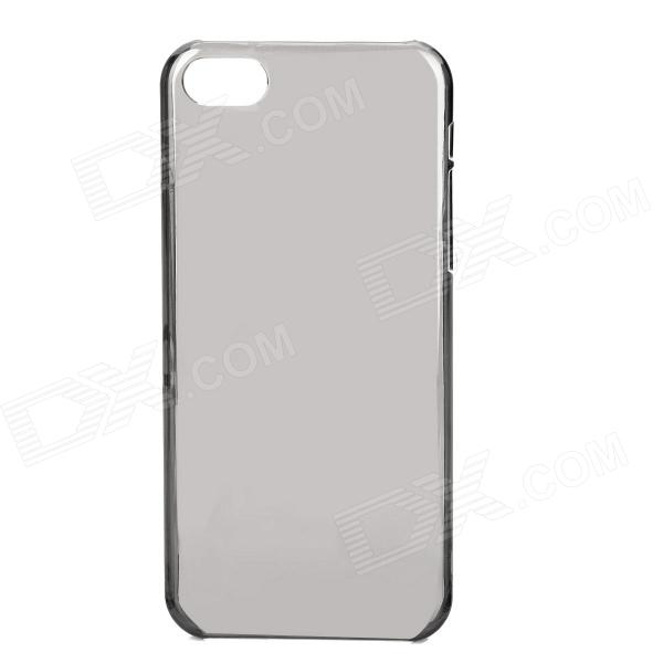 Ultra-Thin Protective Plastic Back Case for Iphone 5C - Translucent Grey top lcd iphone 5c