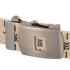 Canvas Waistband Belt w/ Centimeter Scale - Beige (114cm)