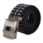 Canvas Wasitband Belt w/ Scale - Black (114cm)