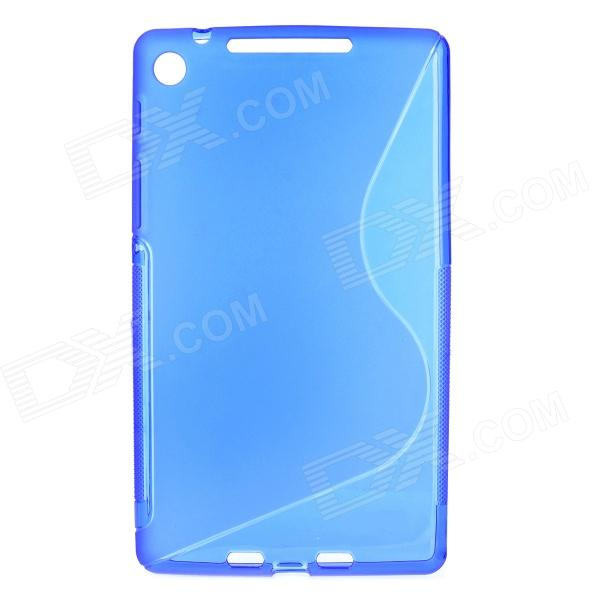 Stylish S Pattern Silicone + Plastic Protective Back Case for Google Nexus 7 II - Blue protective silicone back case for google nexus 5 translucent white
