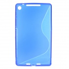 "Stylish ""S"" Pattern Silicone + Plastic Protective Back Case for Google Nexus 7 II - Blue"