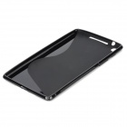 "Stylish ""S"" Pattern Silicone + Plastic Protective Back Case for Google Nexus 7 II - Black"